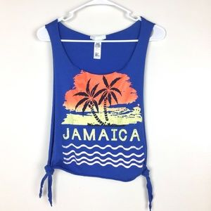 NWOT Forever 21 Jamaica Muscle Side Open Tank Top